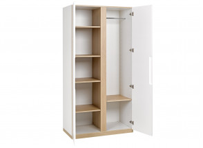 Armoire 2 portes PRADO – Blanc/Chêne Nateo Concept - 4