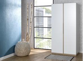 Armoire 2 portes PRADO – Blanc/Chêne Nateo Concept - 1