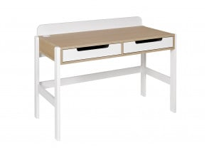 Bureau 2 tiroirs PRADO – Blanc/Chêne Nateo Concept - 4
