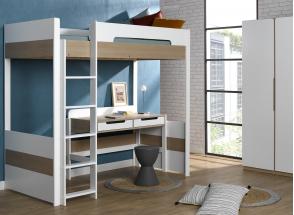Bureau 2 tiroirs PRADO – Blanc/Chêne Nateo Concept - 3