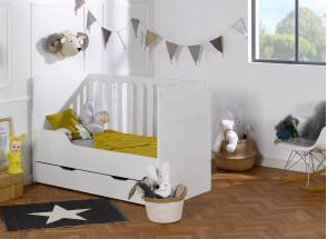 Lit bébé évolutif Blanc CITY – Blanc Nateo Concept - 4
