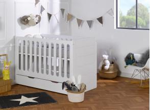 Lit bébé évolutif Blanc CITY – Blanc Nateo Concept - 3