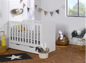 Lit bébé évolutif Blanc CITY – Blanc Nateo Concept - 2