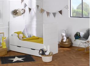 Lit bébé évolutif Blanc CITY – Blanc Nateo Concept - 6