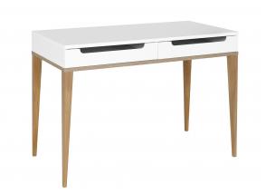 Bureau 2 tiroirs VOLT – Blanc/Bois Nateo Concept - 3