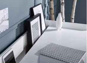 Bureau à casier VOLT – Blanc/Bois Nateo Concept - 2