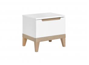 Chevet avec tiroir VOLT – Blanc/Hêtre Nateo Concept - 3