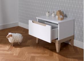 Chevet avec tiroir VOLT – Blanc/Hêtre Nateo Concept - 2