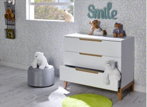 Commode 3 tiroirs VOLT  – Blanc/Hêtre Nateo Concept - 2