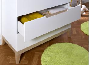 Commode 3 tiroirs VOLT  – Blanc/Hêtre Nateo Concept - 3