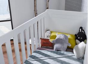 Lit bébé évolutif VOLT – Blanc/Hêtre Nateo Concept - 2
