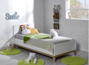 Lit enfant 90x200 VOLT  – Blanc/Hêtre Nateo Concept - 1