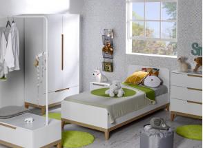 Lit enfant 90x200 VOLT  – Blanc/Hêtre Nateo Concept - 3