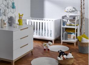 Table à langer bébé VOLT – Blanc/Hêtre Nateo Concept - 3