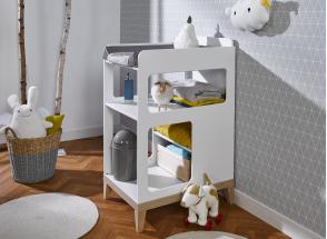 Table à langer bébé VOLT – Blanc/Hêtre Nateo Concept - 2