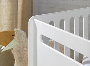 Lit bébé évolutif OXYGENE – Blanc/Bouleau Nateo Concept - 4