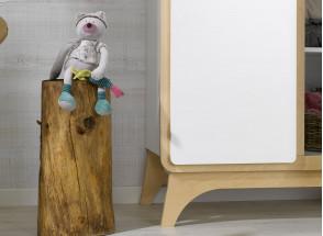 Armoire 2 portes OXYGENE – Blanc/Bouleau Nateo Concept - 3