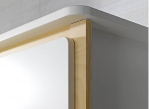 Armoire 2 portes OXYGENE – Blanc/Bouleau Nateo Concept - 4