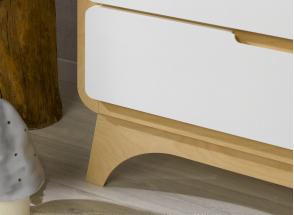 Commode 3 tiroirs OXYGENE – Blanc/Bouleau Nateo Concept - 2