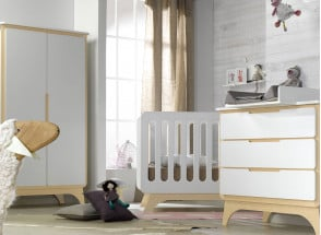 Commode 3 tiroirs OXYGENE – Blanc/Bouleau Nateo Concept - 3