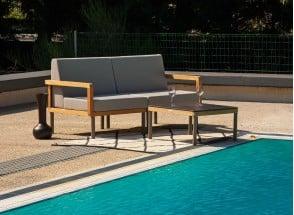 Fauteuils et table de jardin en Teck RIO Nateo Concept - 1