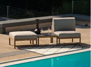 Salon de jardin en Teck RIO - 3 pièces Nateo Concept - 1