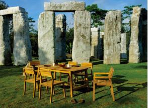 Table et chaises de jardin en Teck CUBA - 6/10 personnes Nateo Concept - 2