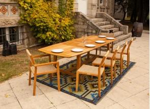 Table et chaises de jardin en Teck LIMA - 6 personnes Nateo Concept - 2