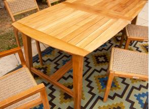 Table et chaises de jardin en Teck LIMA - 6 personnes Nateo Concept - 3