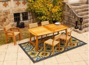 Table et chaises de jardin en Teck LIMA - 6 personnes Nateo Concept - 1