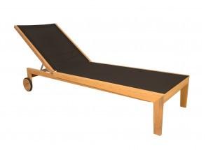Chaise longue et table en Teck PRAIA Nateo Concept - 3