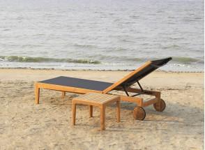 Chaise longue et table en Teck PRAIA Nateo Concept - 2