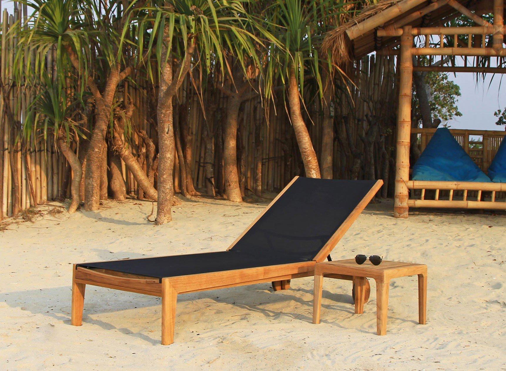 Chaise longue et table en Teck PRAIA Nateo Concept - 1