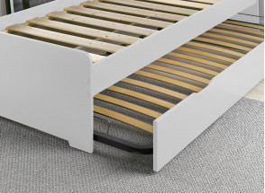Lit gigogne 90x200 LEVIS Blanc + 2 matelas Nateo Concept - 3