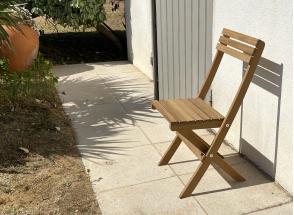 Chaise de jardin pliante en bois MOOREA Nateo Concept - 4