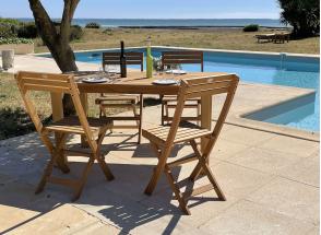 Chaise de jardin pliante en bois MOOREA Nateo Concept - 3