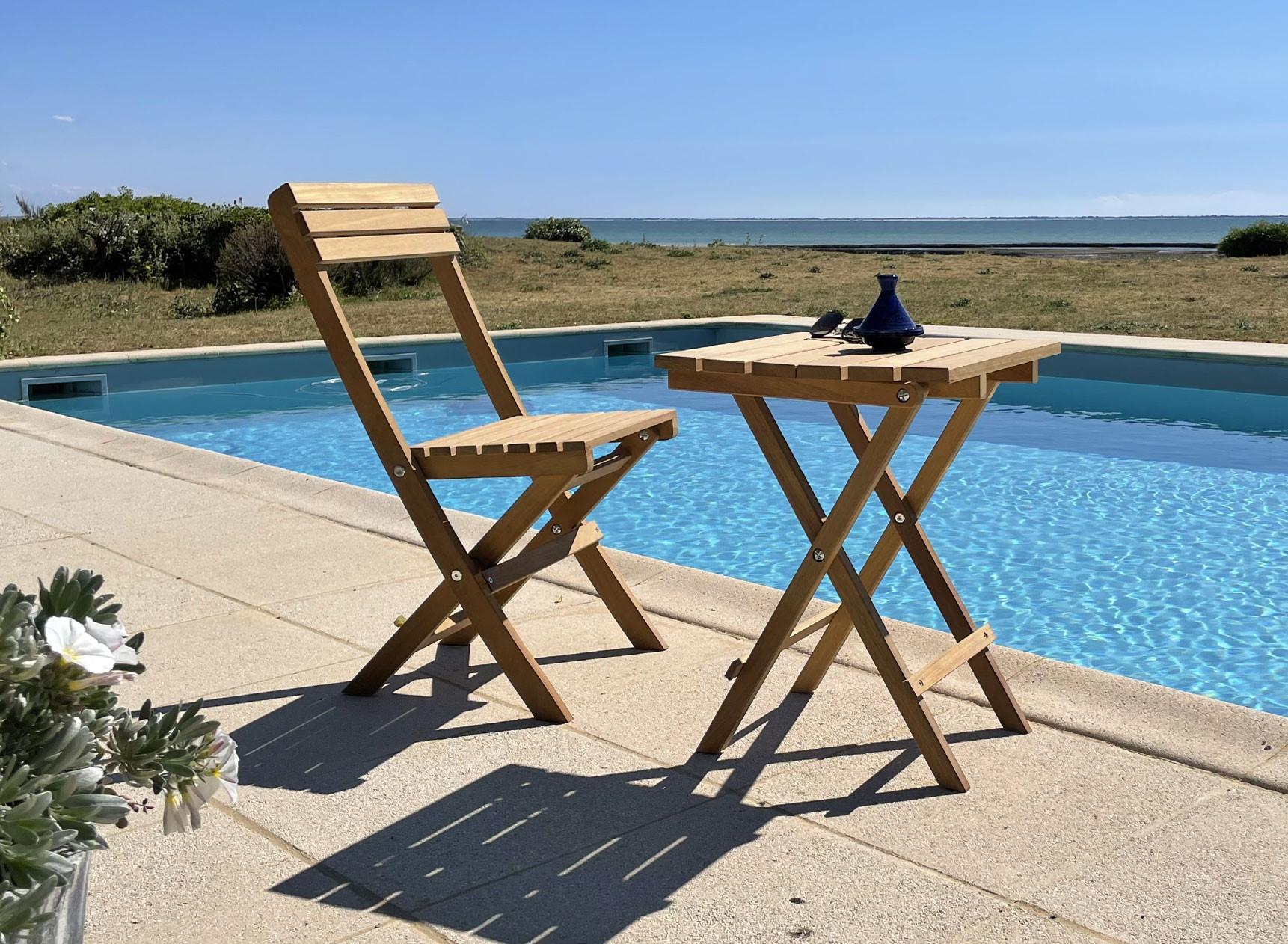 Chaise de jardin pliante en bois MOOREA Nateo Concept - 1