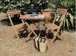 Chaise de jardin pliante en bois MOOREA Nateo Concept - 2