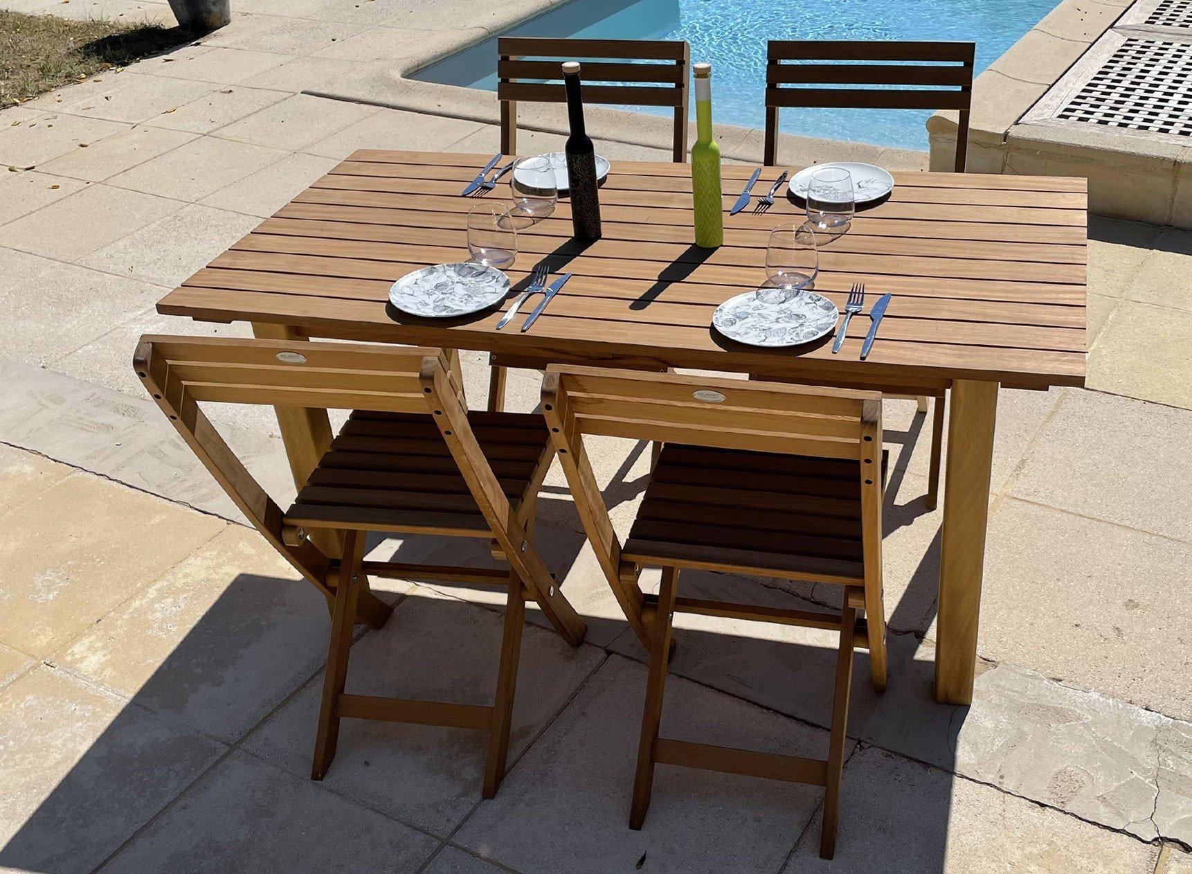 Table de jardin en bois massif MOOREA Nateo Concept - 1