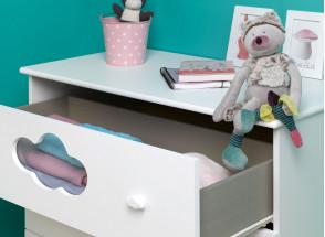 Chambre bébé complète CLOUD- Blanc  - 6