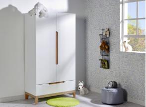 Chambre bébé complète VOLT - Blanc/Hêtre  - 4