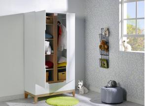 Chambre bébé complète VOLT - Blanc/Hêtre  - 5