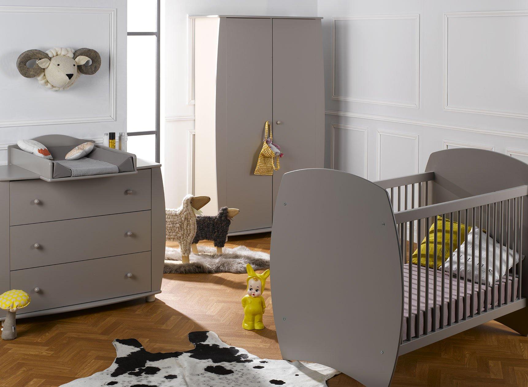 Chambre bébé complète CALTON - Lin  - 1