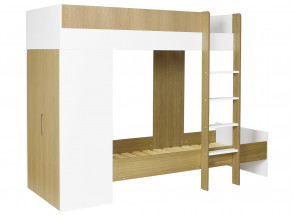 Lit superposé avec armoire MANLY + 2 matelas  - 2