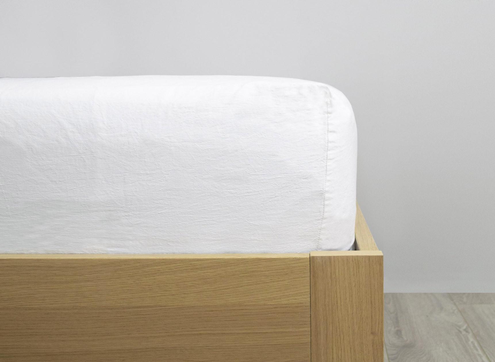 Drap housse 140x200cm TANA Lin et Coton Bio Nateo Concept - 1