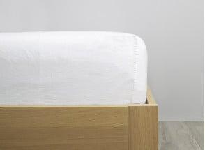 Drap housse 160x200cm TANA Lin et Coton Bio Nateo Concept - 1