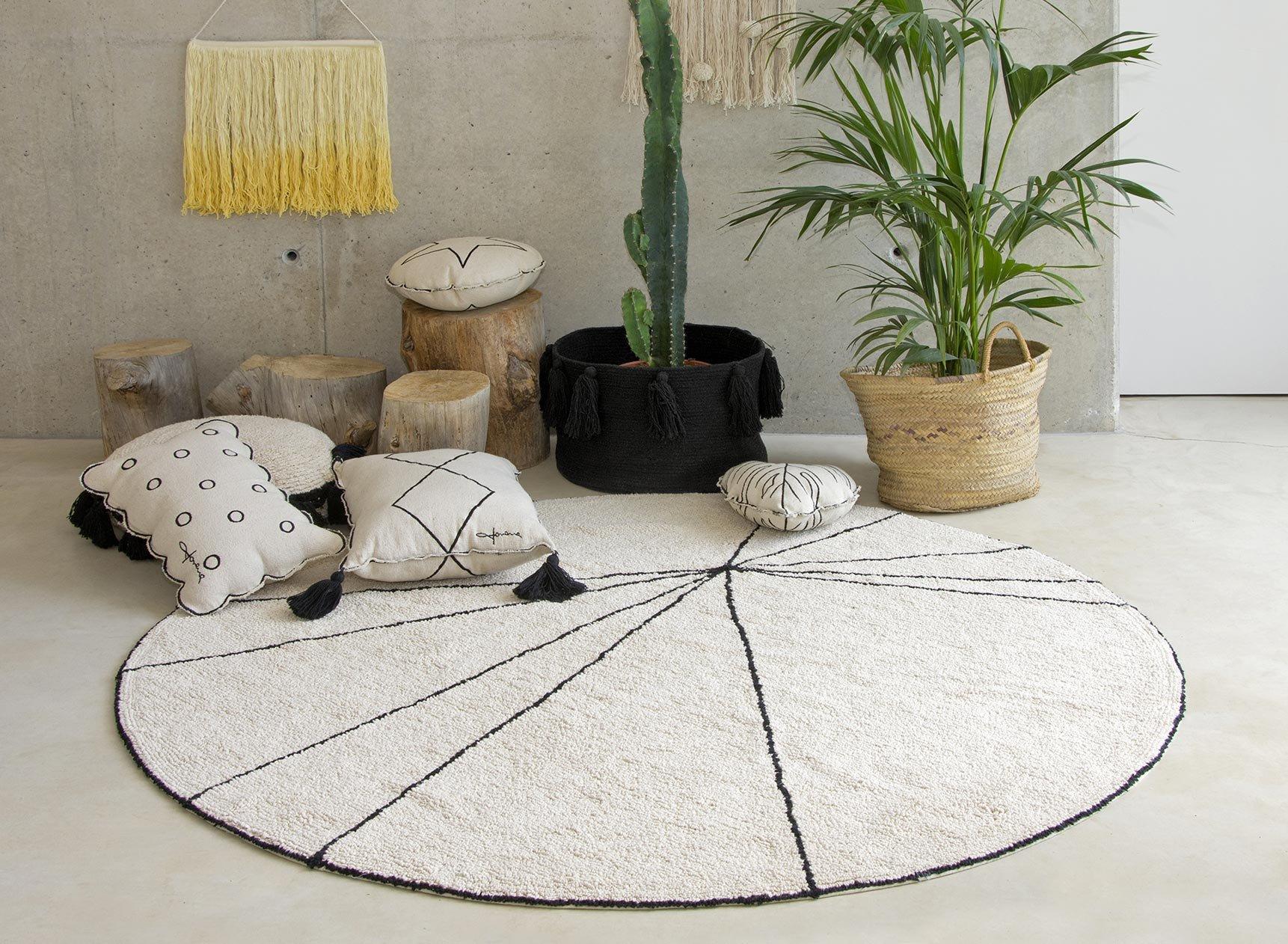 Tapis rond lavable MAIA 100% Coton  - 1