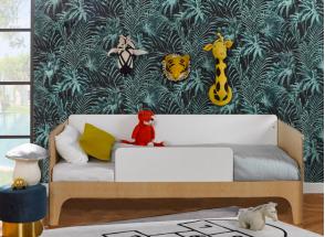 Lit enfant 90x190 SORIA Blanc/Bois Nateo Concept - 2
