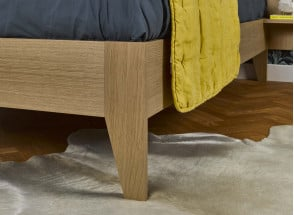 Lit double 140x190 + chevet BALI - Chêne naturel Nateo Concept - 3