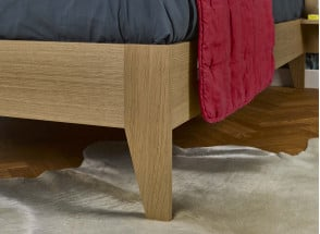 Lit double 160x200 + chevet BALI - Chêne naturel Nateo Concept - 3